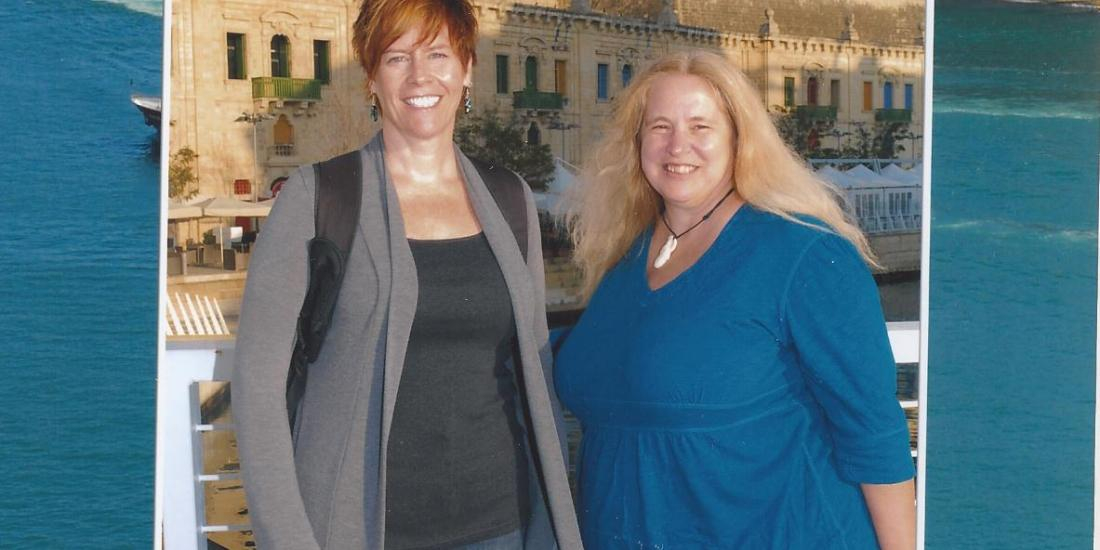 Sue and Cat in Malta