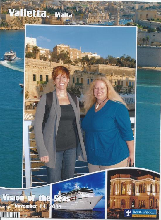 Sue and Cat in Malta