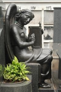Statue in cemetery in Sao Paulo