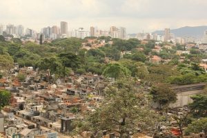 Lower level of the Sao Paulo cemetery