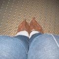 Booties worn to visit Peterhof