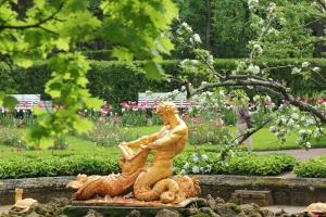 Fountain in Peterhof Gardens