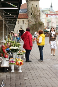 Flower Market in Tallinn