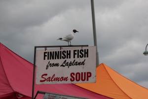 Sign for Finnish  fish Market Square