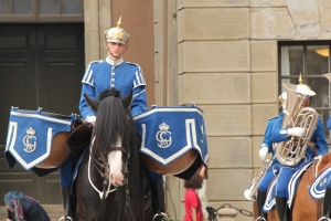 Swedish Guards Mounted Drummer