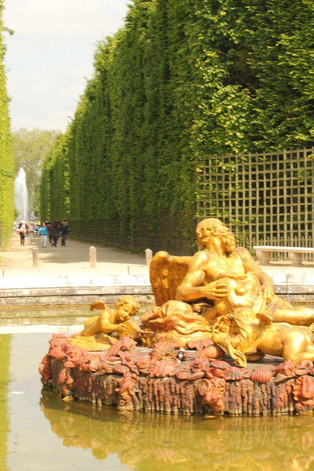 Gilded fountain at Versailles