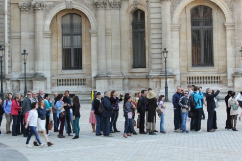 Middle of the line to enter the Louvre