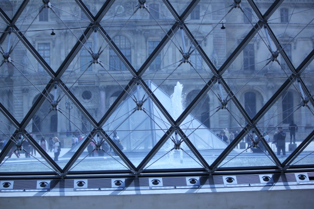 The Louvre inside the pyramid