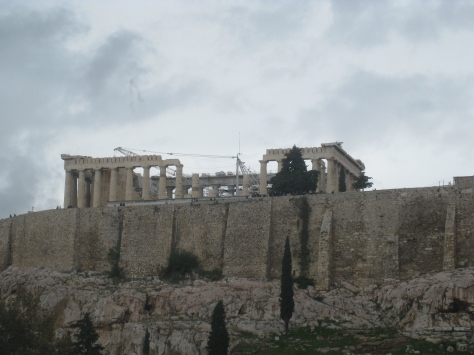 View of the Acropolis form the New Acropolis Museum