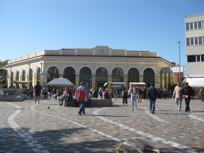 Monastriaki Plaza before the crowds