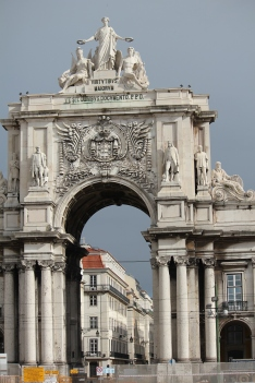 Gate to downtown Lisbon