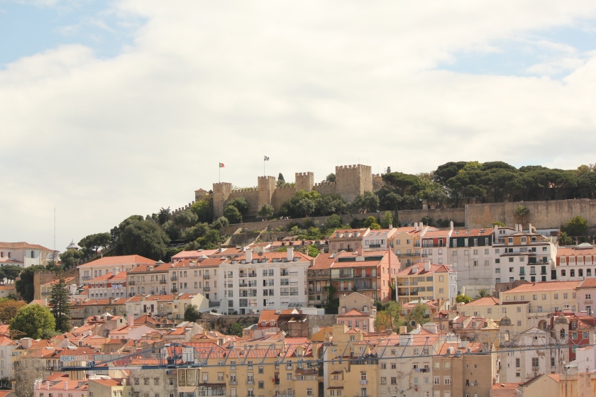 View of the castle from the Santa Justa Elevator