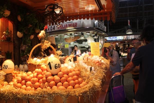 Egg stall at La Boqueira