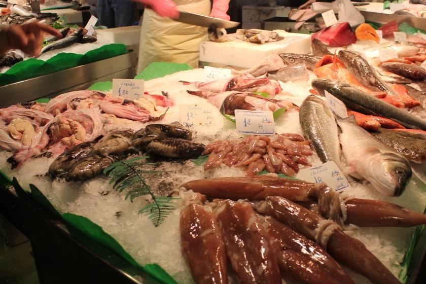 Fish stall at La Boqueira