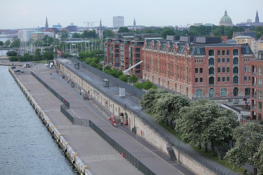 Cruise dock at Copenhagen, Denmark