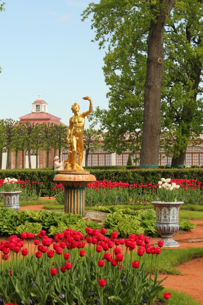 Garden at Peterhof where Catherine II planted a tree