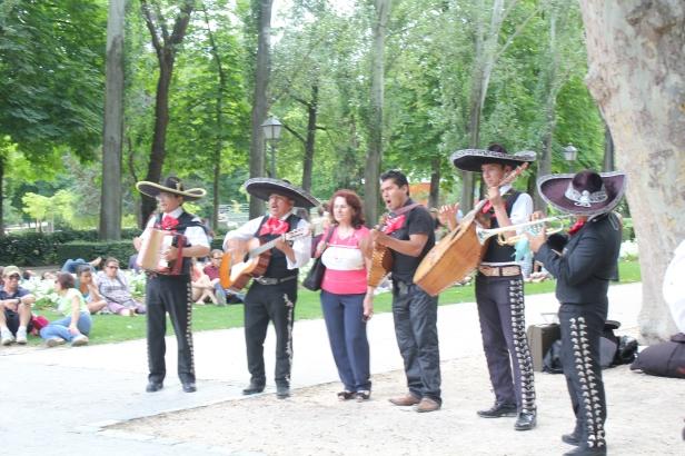 Mariachi Band in Retiro Park, Madrid
