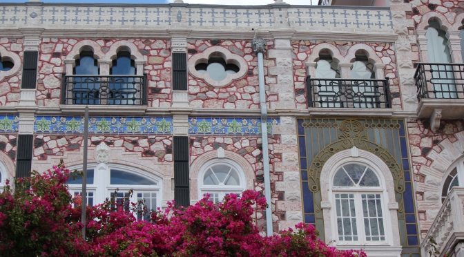 Beautiful tilework on building in Lisbon