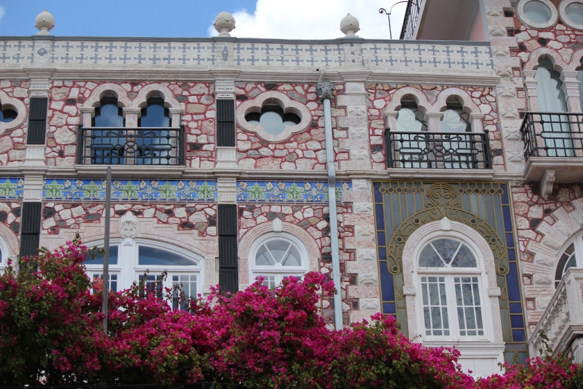 Beautiful tilework on building in Lisbon