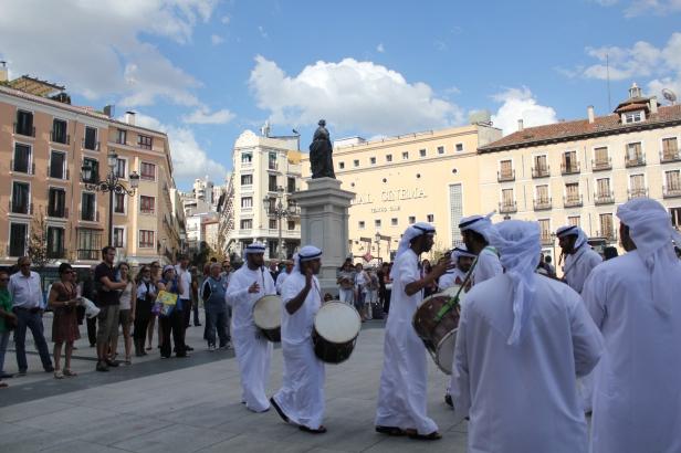 Arabic drummers in Madrid