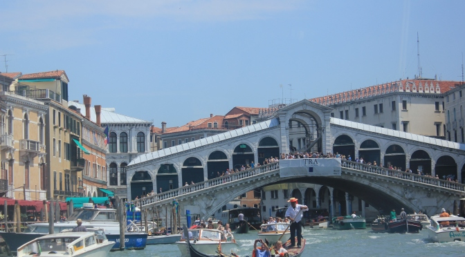 A to Z Challenge: V = Venice & cruising along the Grand Canal