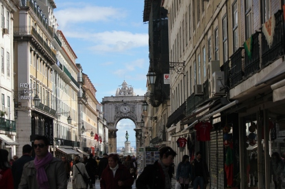 Pedestrian area in downtown Lisbon