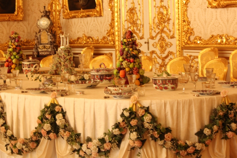 Table setting in Catherine's Palace