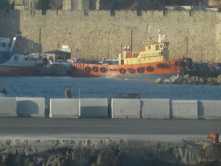 Docking at Rhodes, Greece
