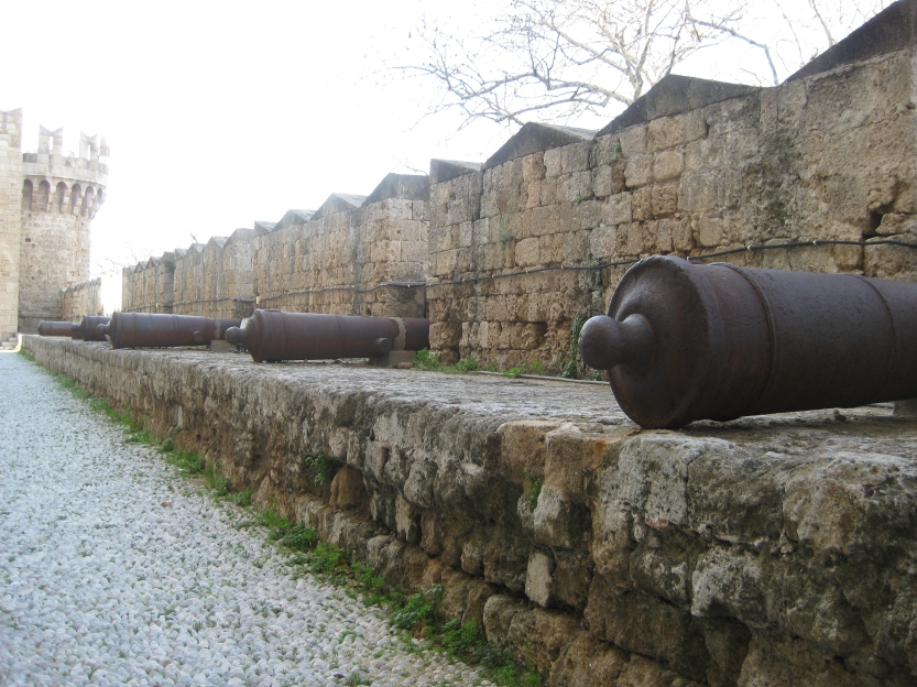 Row of canons