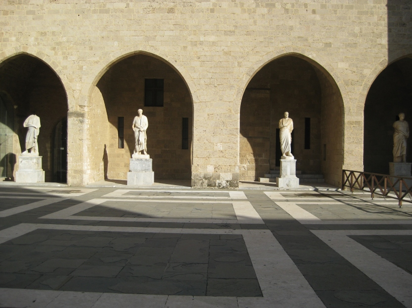 Main courtyard in the Palace of the Grandmasters