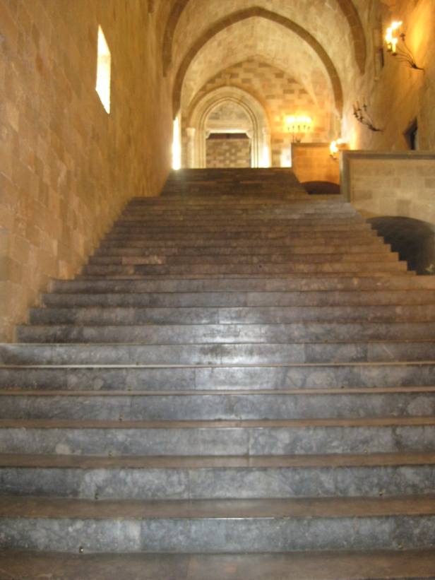 Main staircase in the Palace of the Grandmasters