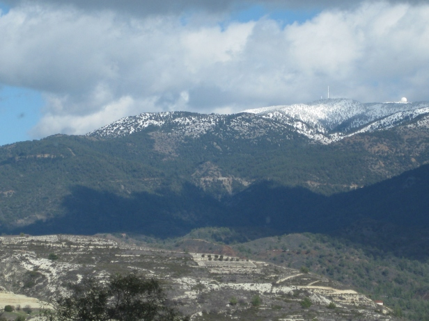 Snow-capped mountains in Cyprus