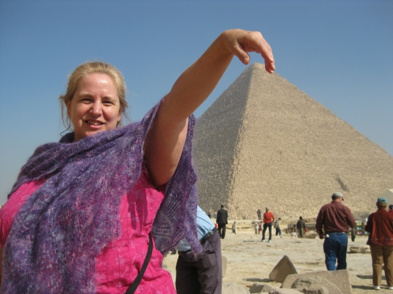 Funny picture at the great Pyramid