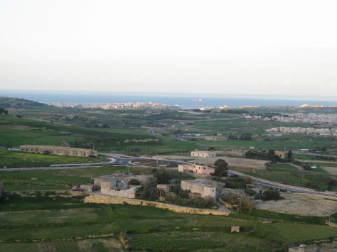View of countryside between Valletta & Mdina