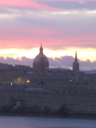 Sunset over Valletta
