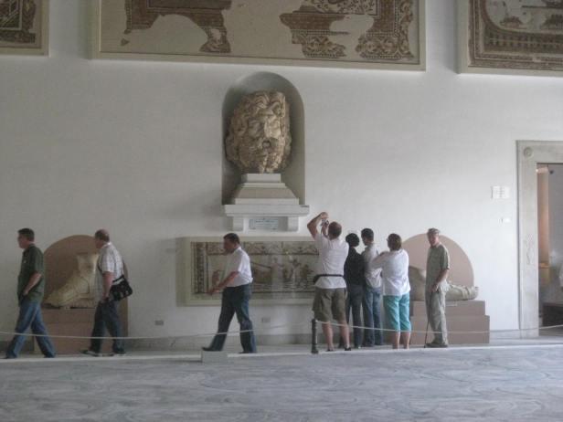 Head of Zeus statue in the Bardo Museum