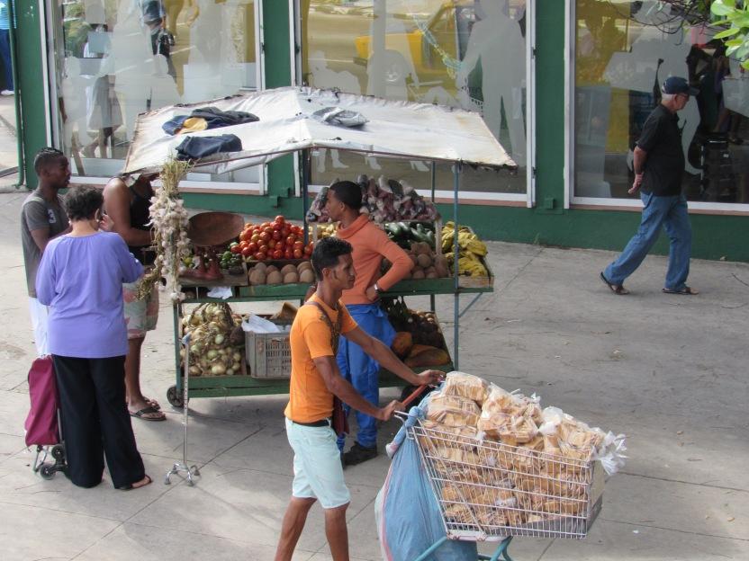 Street vendors in Havana