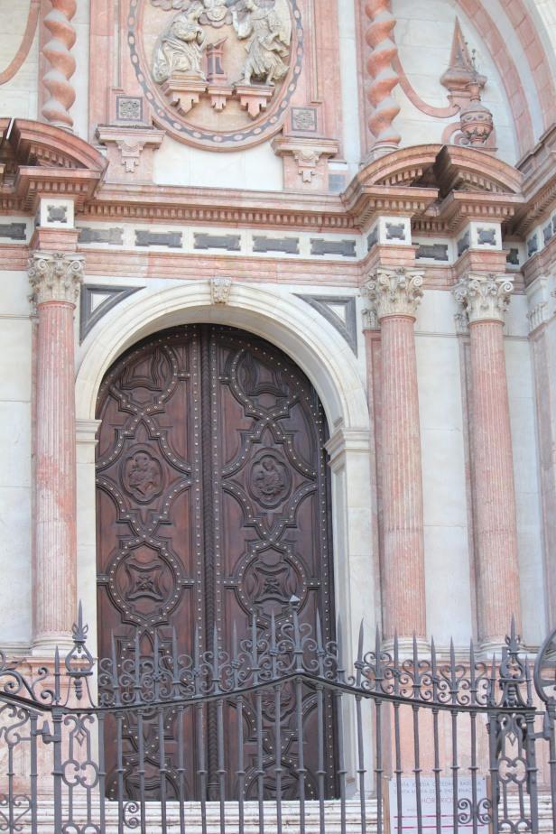 Malaga Cathedral doors